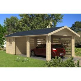 Trä garage GSTOC 27 kvm